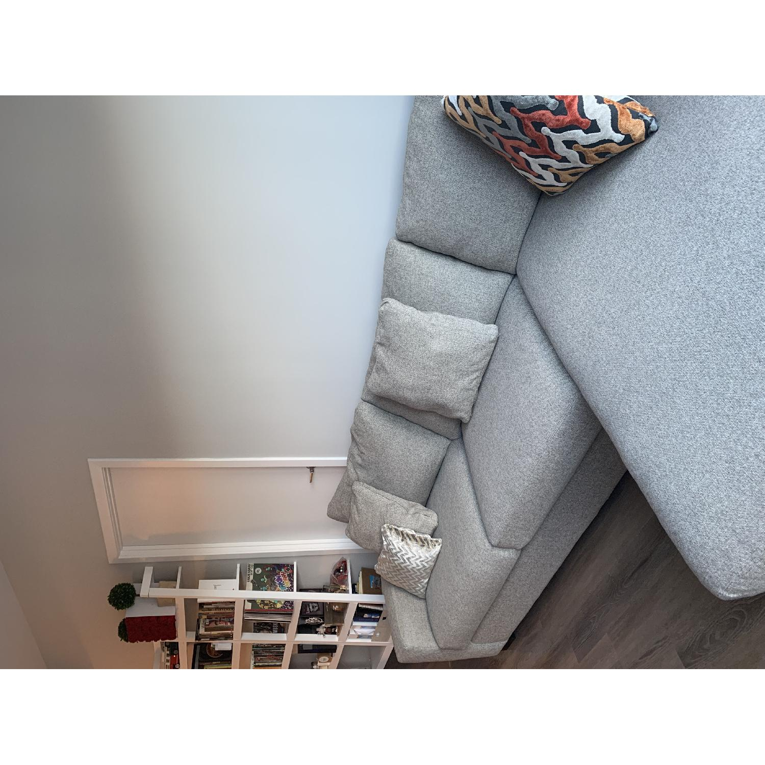 Room & Board Metro Grey Sectional Sofa w/ Right Chaise - image-6
