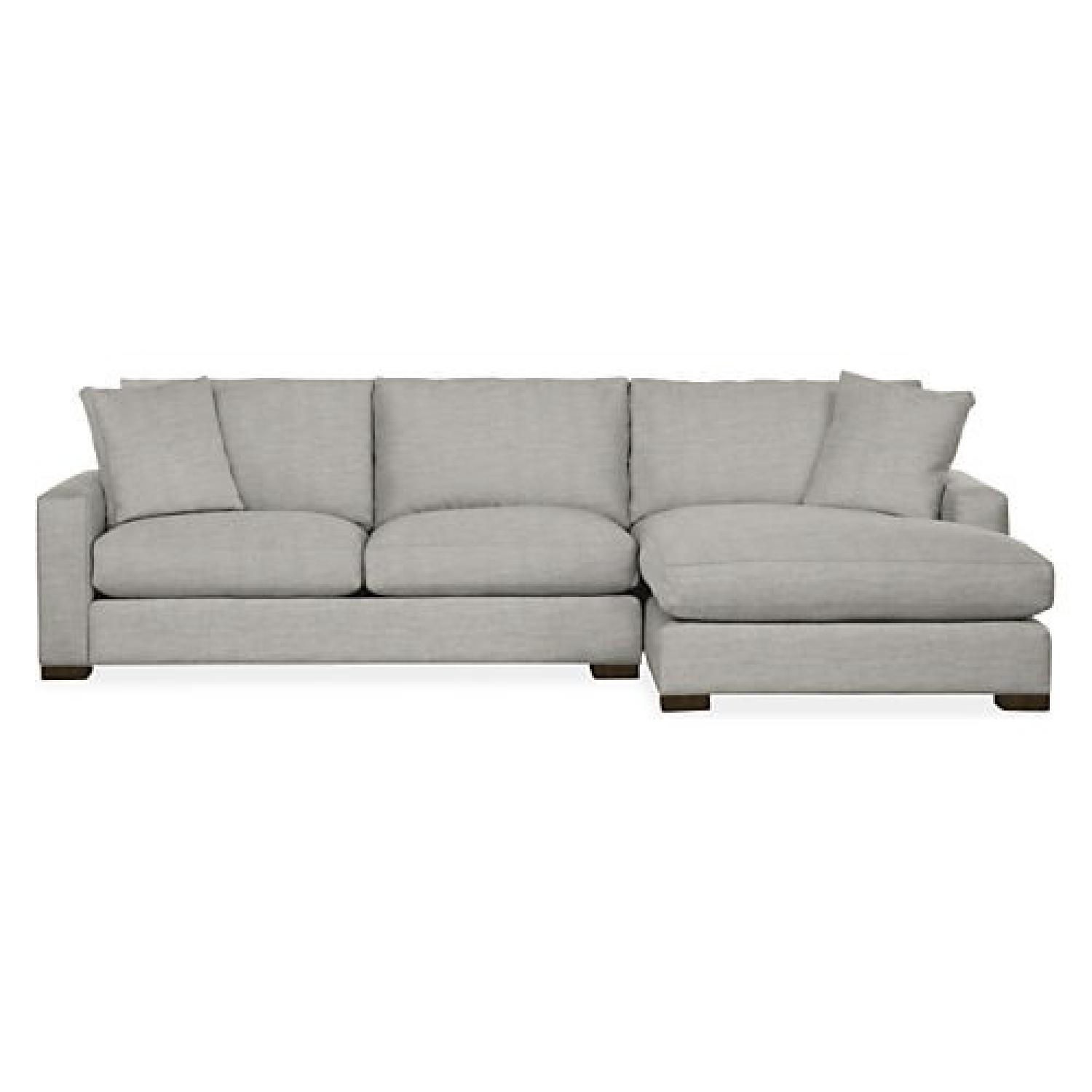 Room & Board Metro Grey Sectional Sofa w/ Right Chaise