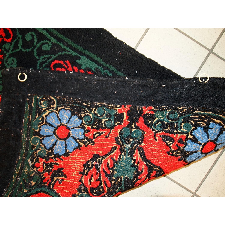 Antique Handmade American Hooked Rug - image-1
