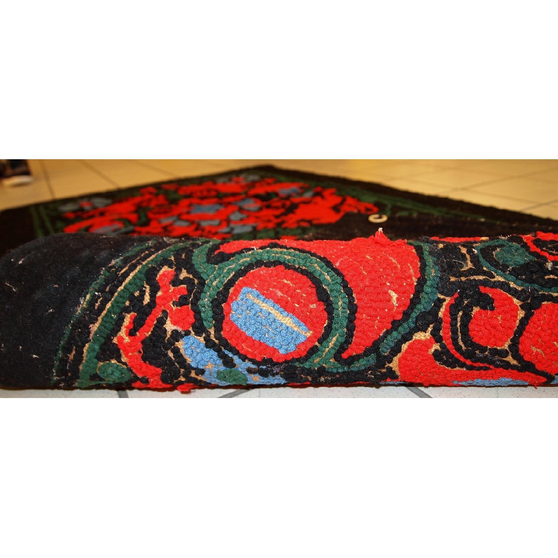 Antique Handmade American Hooked Rug - image-2