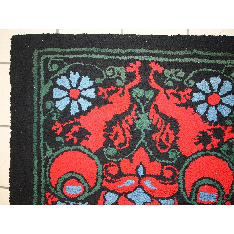 Antique Handmade American Hooked Rug - image-11