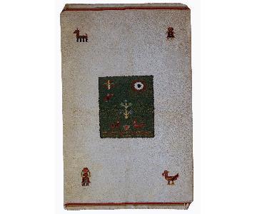 Vintage Handmade Persian Gabbeh Rug