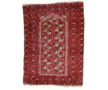 Handmade Antique Prayer Afghan Adraskand Rug