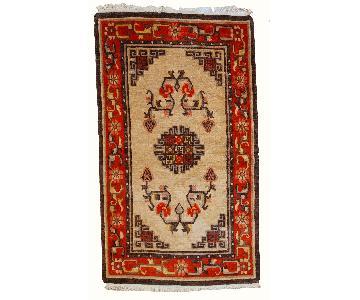 Vintage Handmade Mongolian Rug
