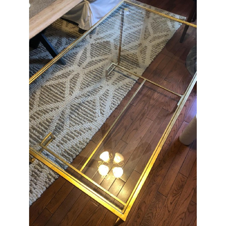 Safavieh Burton Antique Gold Leaf Coffee Table - image-2