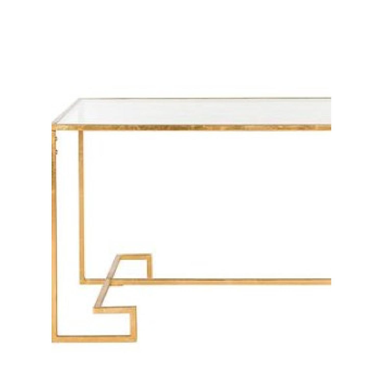 Safavieh Burton Antique Gold Leaf Coffee Table - image-3