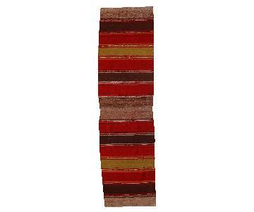 Vintage Handmade Persian Ardabil Kilim Runner Rug