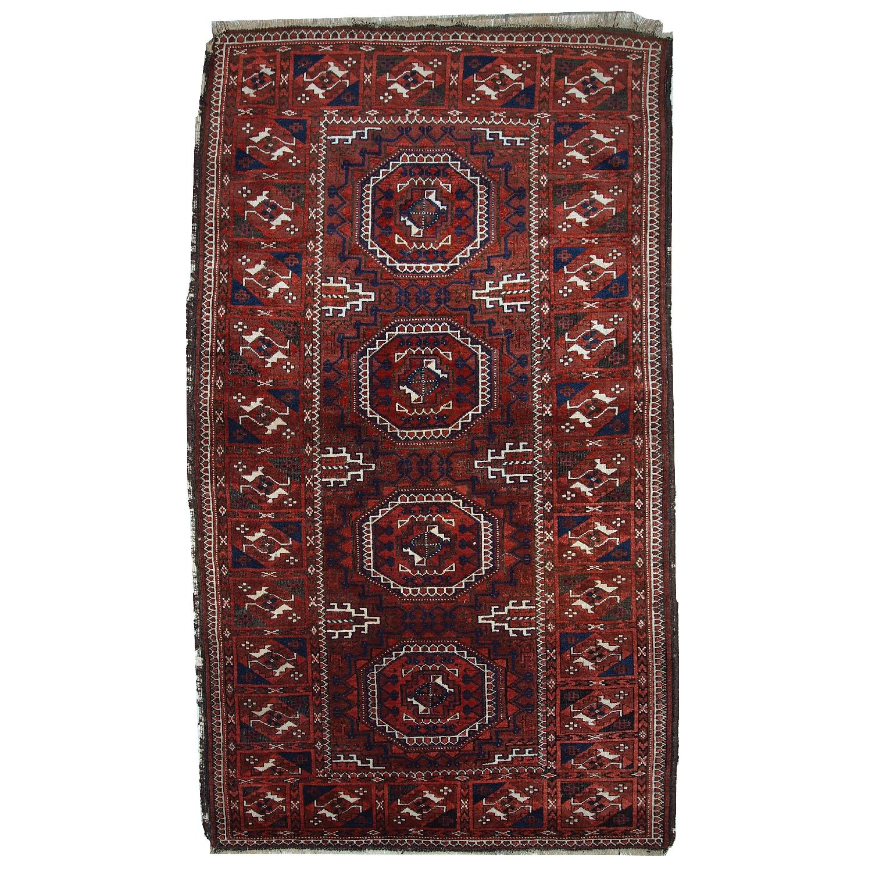 Vintage Handmade Afghan Baluch Rug