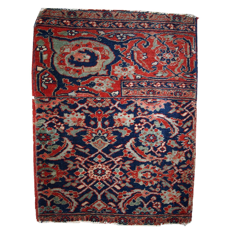 Antique Handmade Persian Bidjar Vagireh Rug