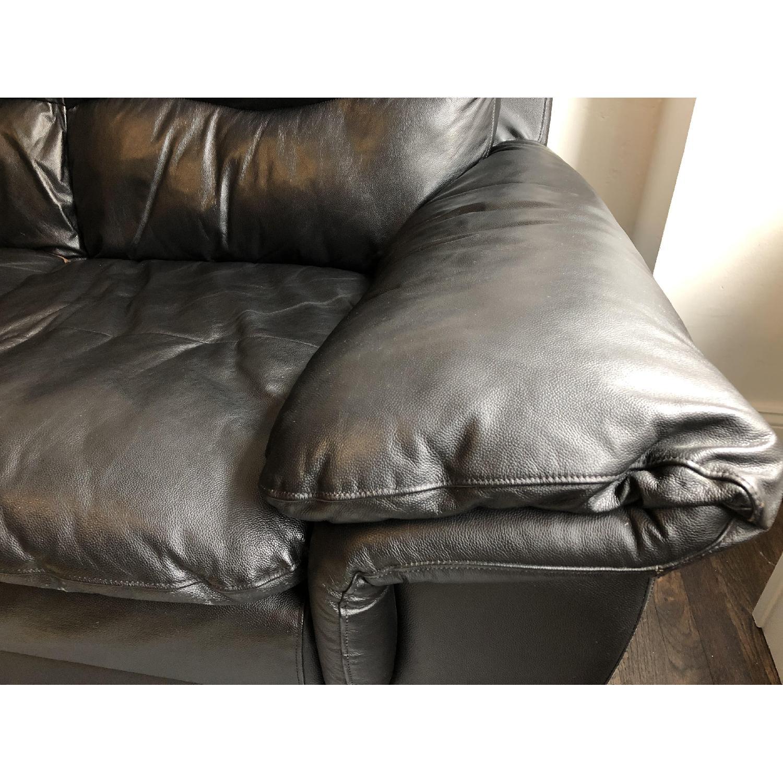 Bob's Black Leather 3-Seater Sofa - image-6