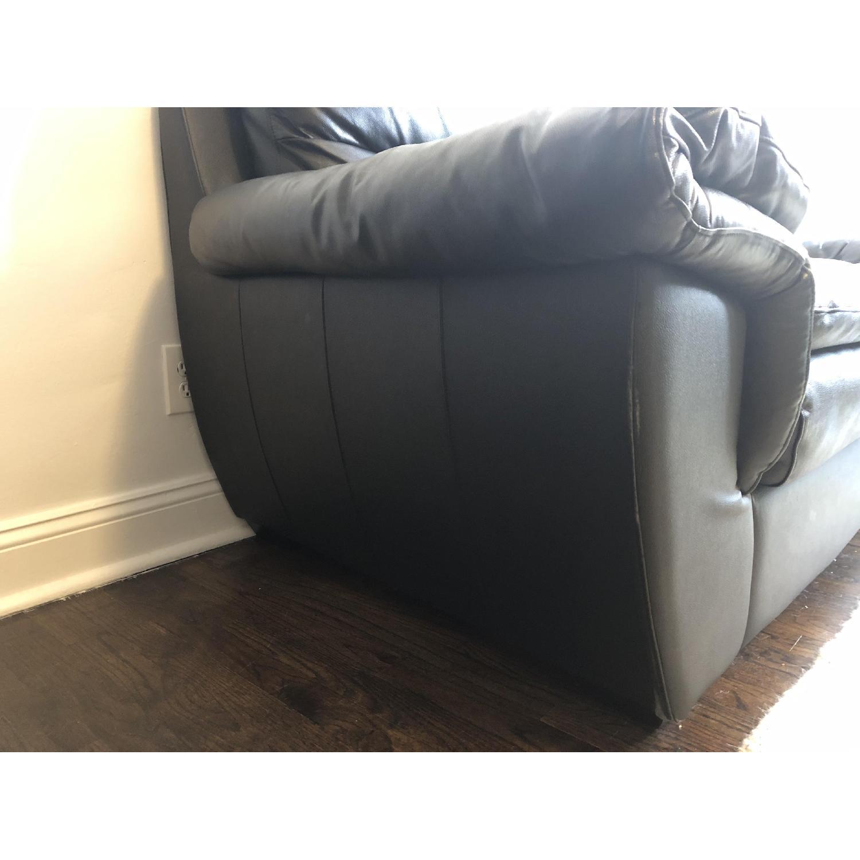 Bob's Black Leather 3-Seater Sofa - image-8
