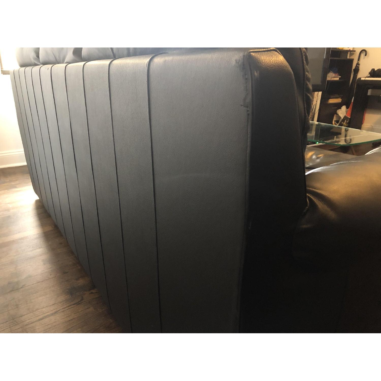 Bob's Black Leather 3-Seater Sofa - image-9