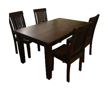 World Market Dining Table w/ 4 Chairs