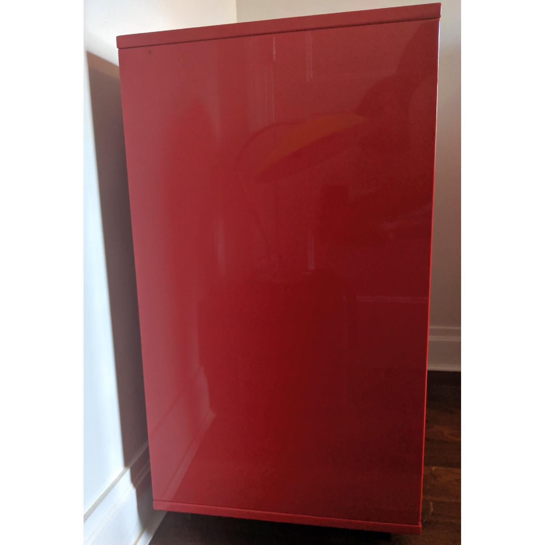 CB2 Red 3 Drawer Dresser - image-3