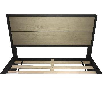 Room & Board Queen Bed w/ Upholstered Headboard & Footboard