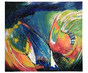 Columbian Artist Abstract Art Painting