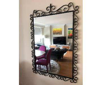 Vintage Wrought Iron Mirror
