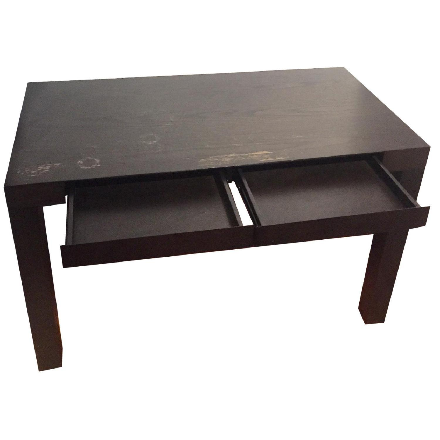 West Elm Parsons Desk in Chocolate - image-1