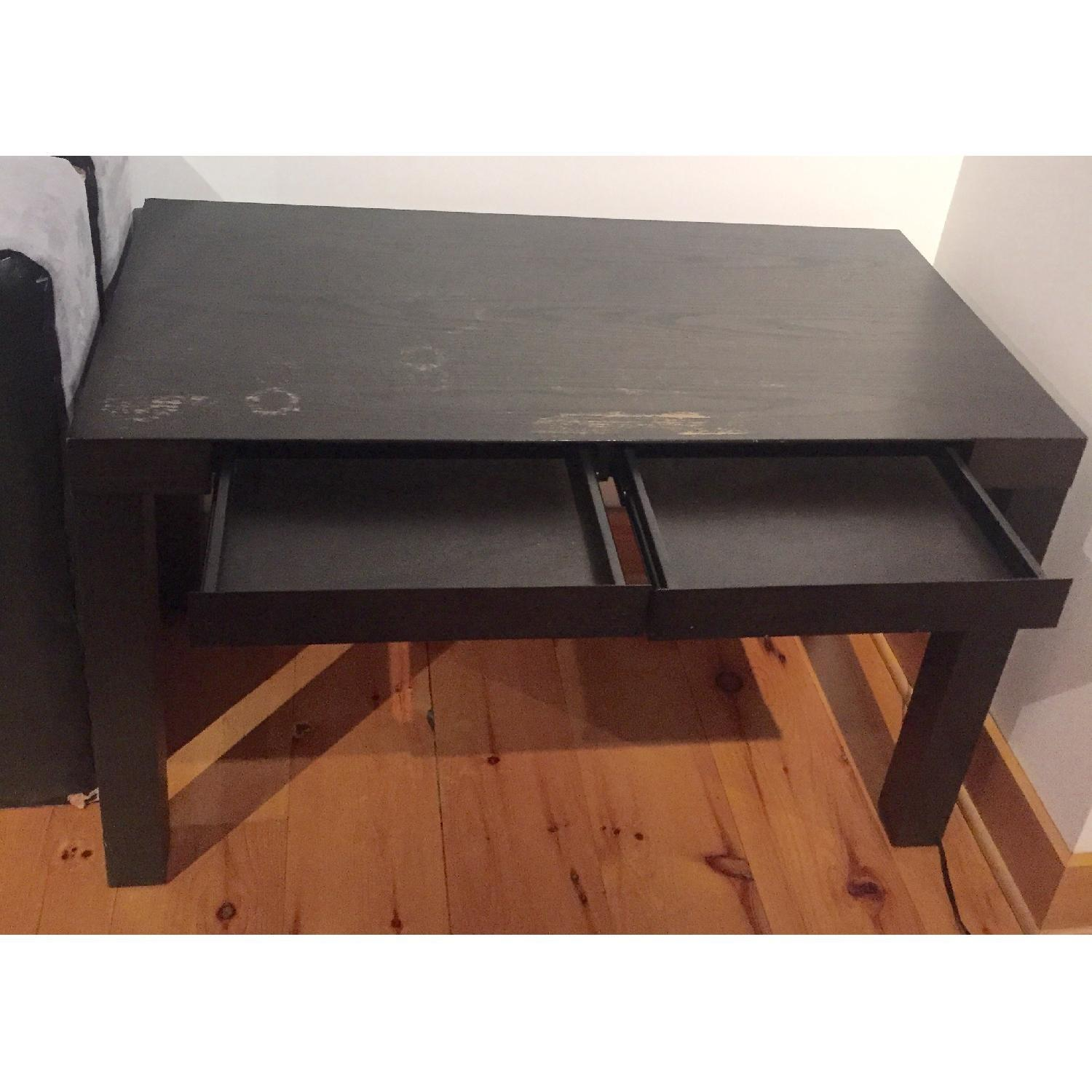 West Elm Parsons Desk in Chocolate - image-2