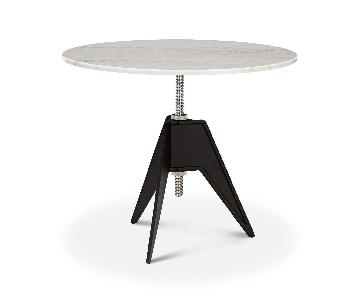 Tom Dixon Adjustable Height Screw Cafe Table in Marble