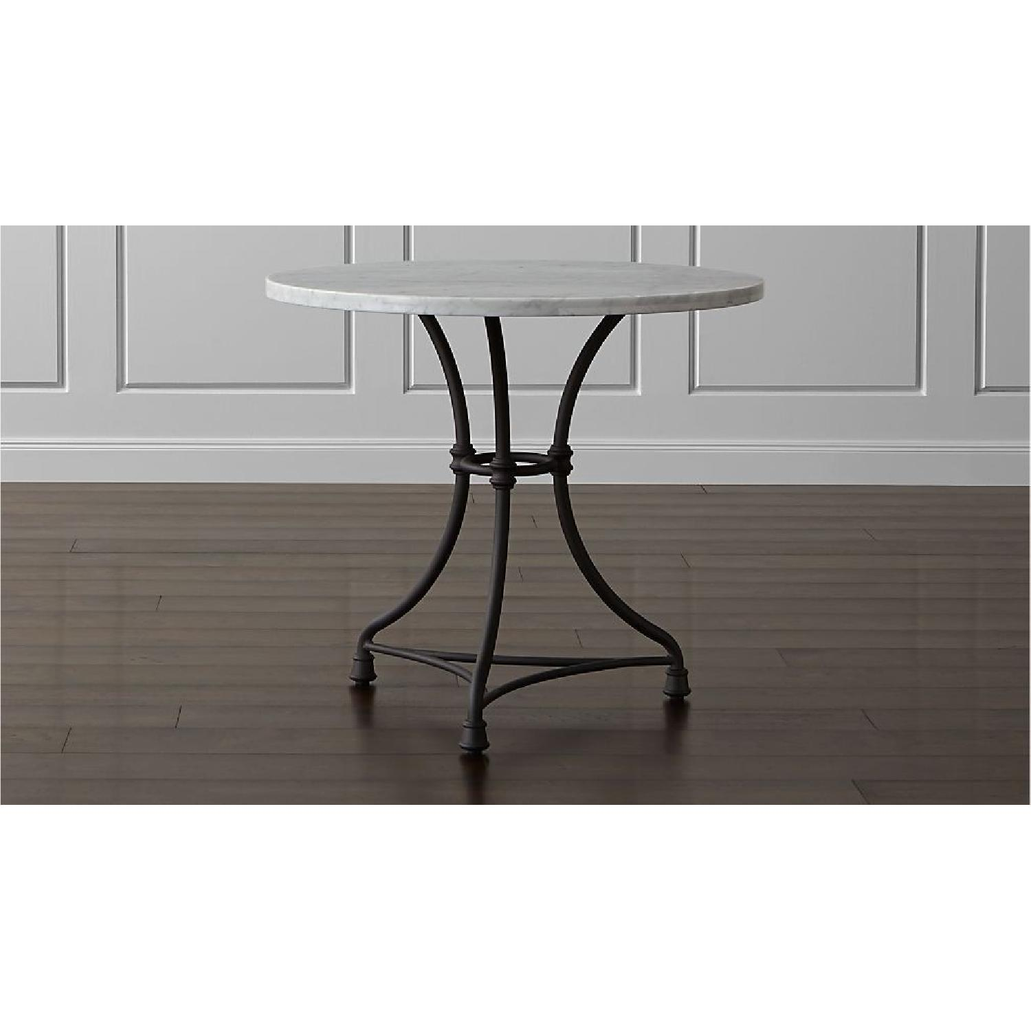 Crate & Barrel French Kitchen Round Bistro Table - image-5