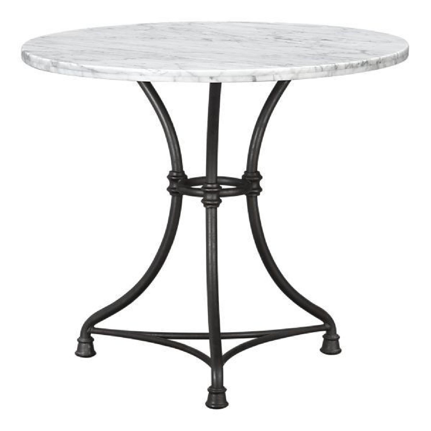 Crate & Barrel French Kitchen Round Bistro Table - image-0