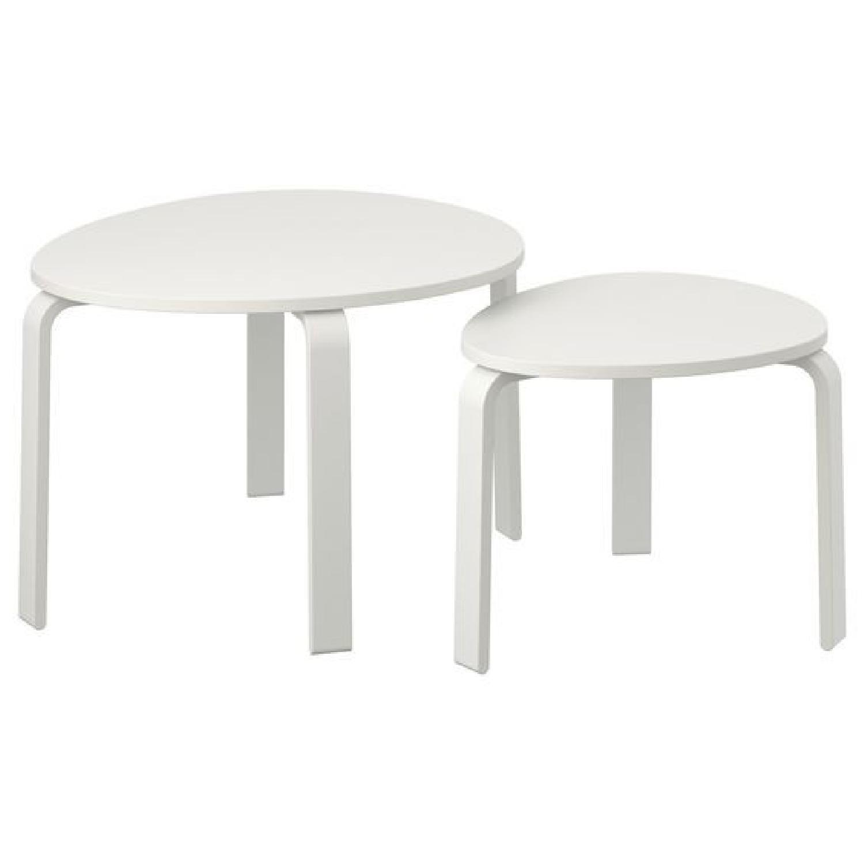 Ikea Svalsta White Nesting Coffee Tables