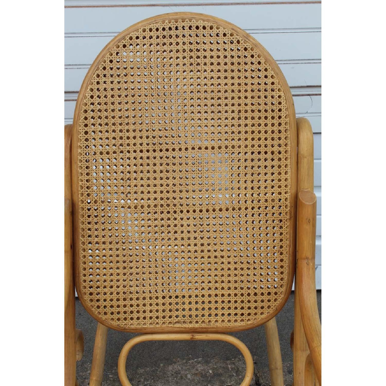 Vintage Thonet Style Bentwood Rocker w/ Cane Back - image-7