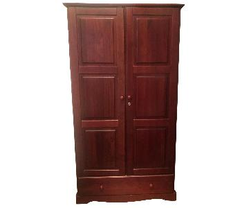 Montage Mahogany Wardrobe w/ Shelves & Drawer