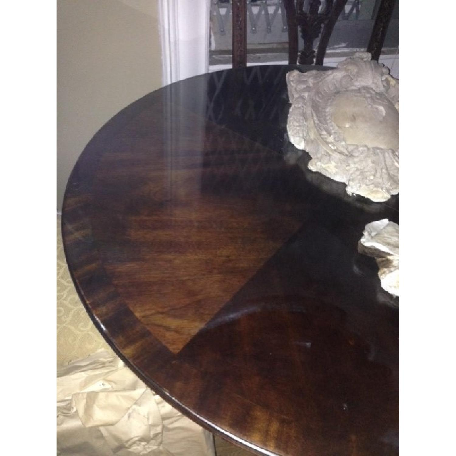 Thomasville Mahogany Coll Pedestal Dining Table - image-2