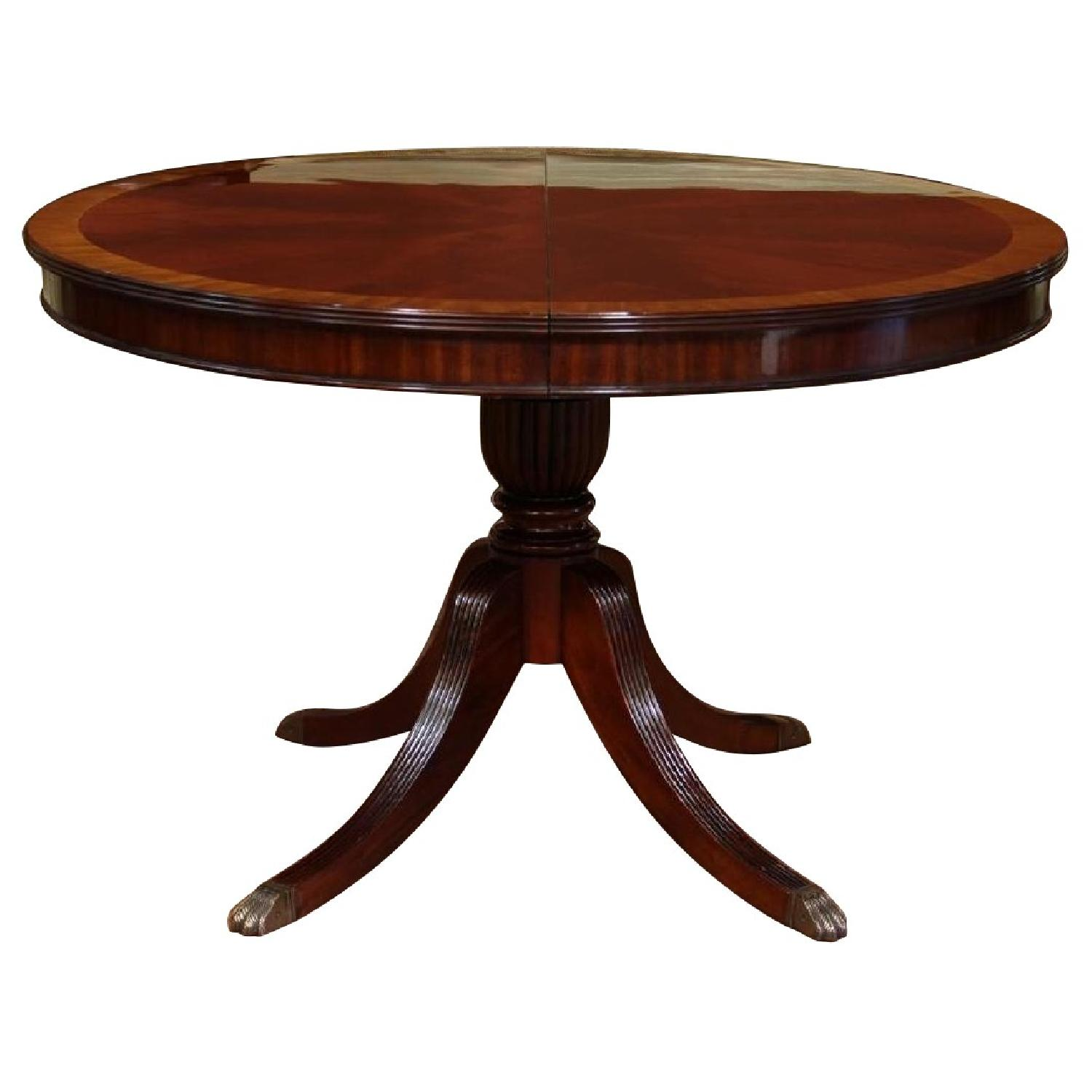 Thomasville Mahogany Coll Pedestal Dining Table - image-0