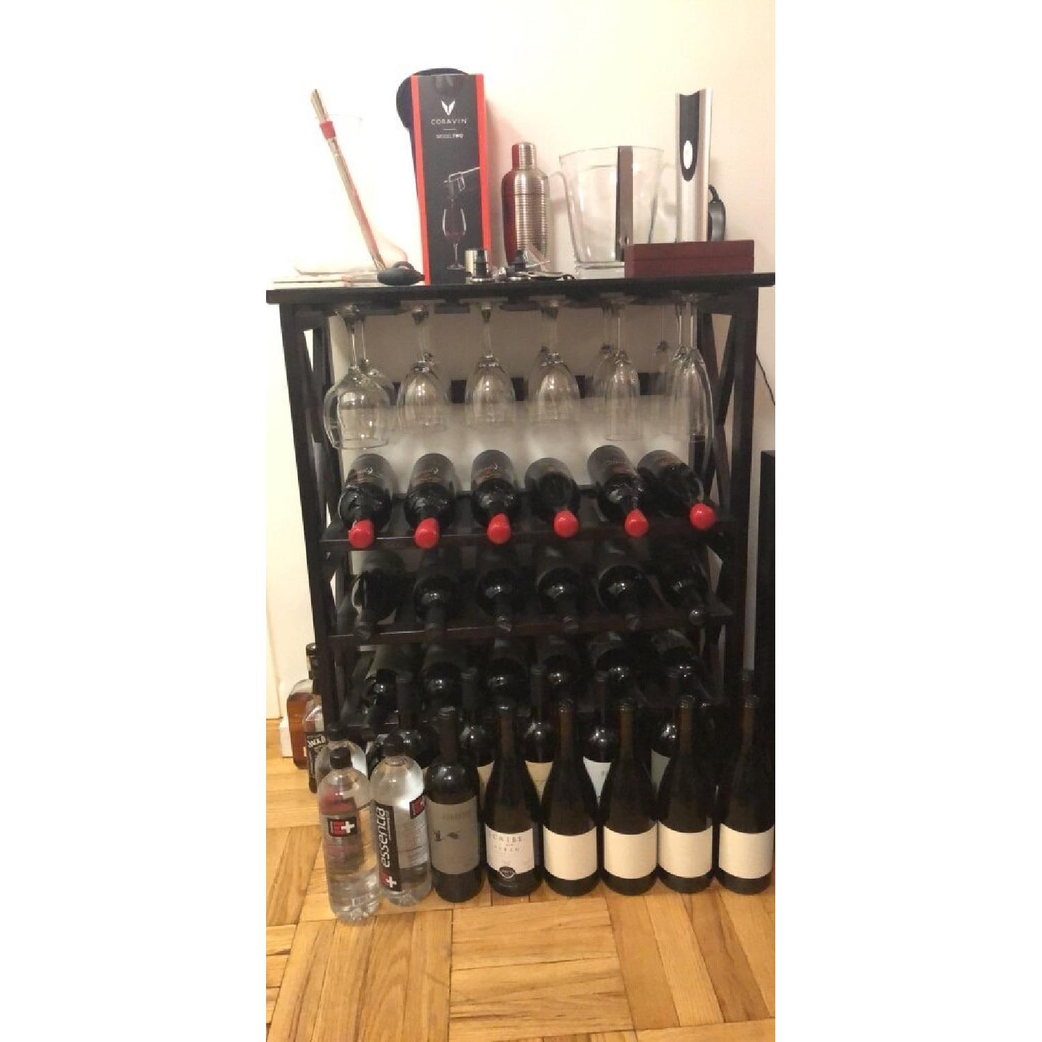 24 Bottle Mahogany Wine Rack