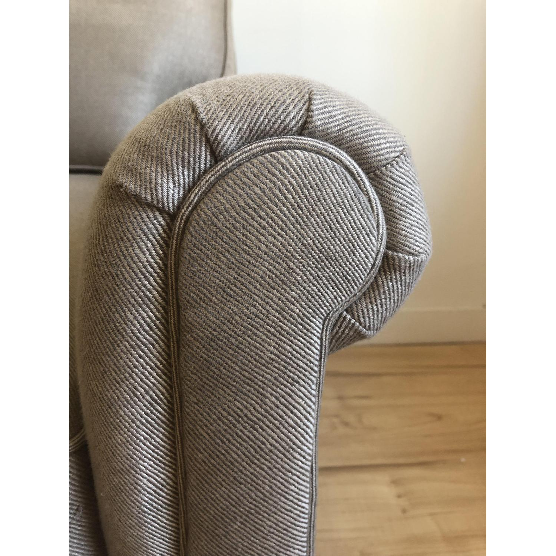 Lee Jofa Tan Fabric Sofa w/ Wood Legs - image-5