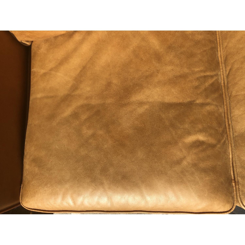 West Elm Hamilton Leather Sofa in Burnt Sienna - image-7