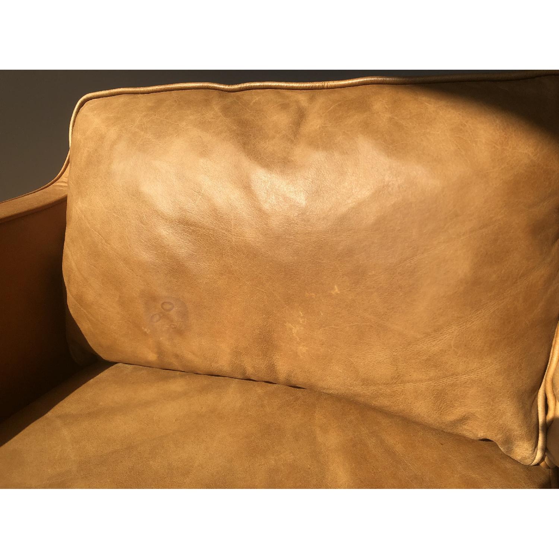 West Elm Hamilton Leather Sofa in Burnt Sienna - image-9