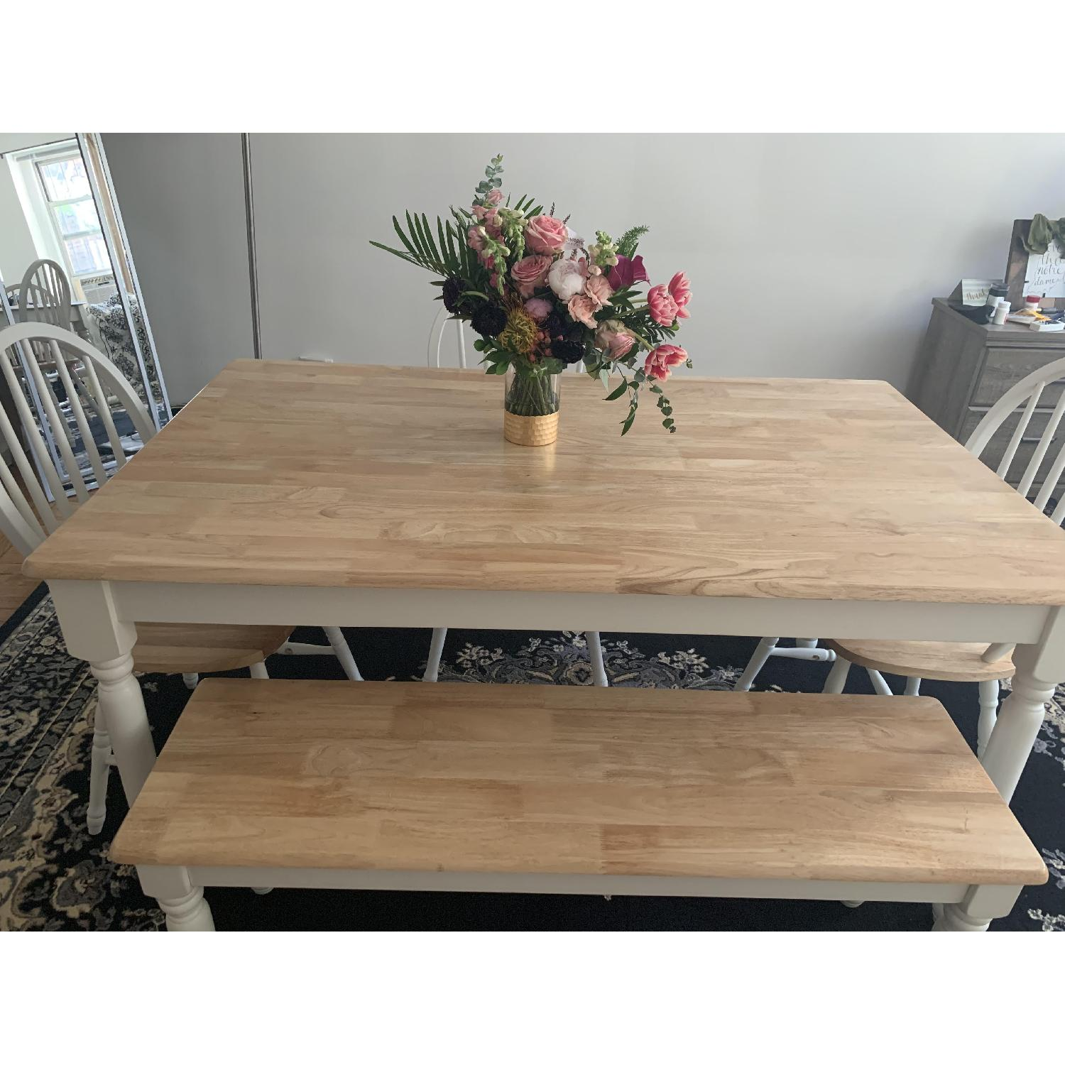 Better Homes & Gardens Dining Table w/ 1 Bench & 3 Chairs - image-2