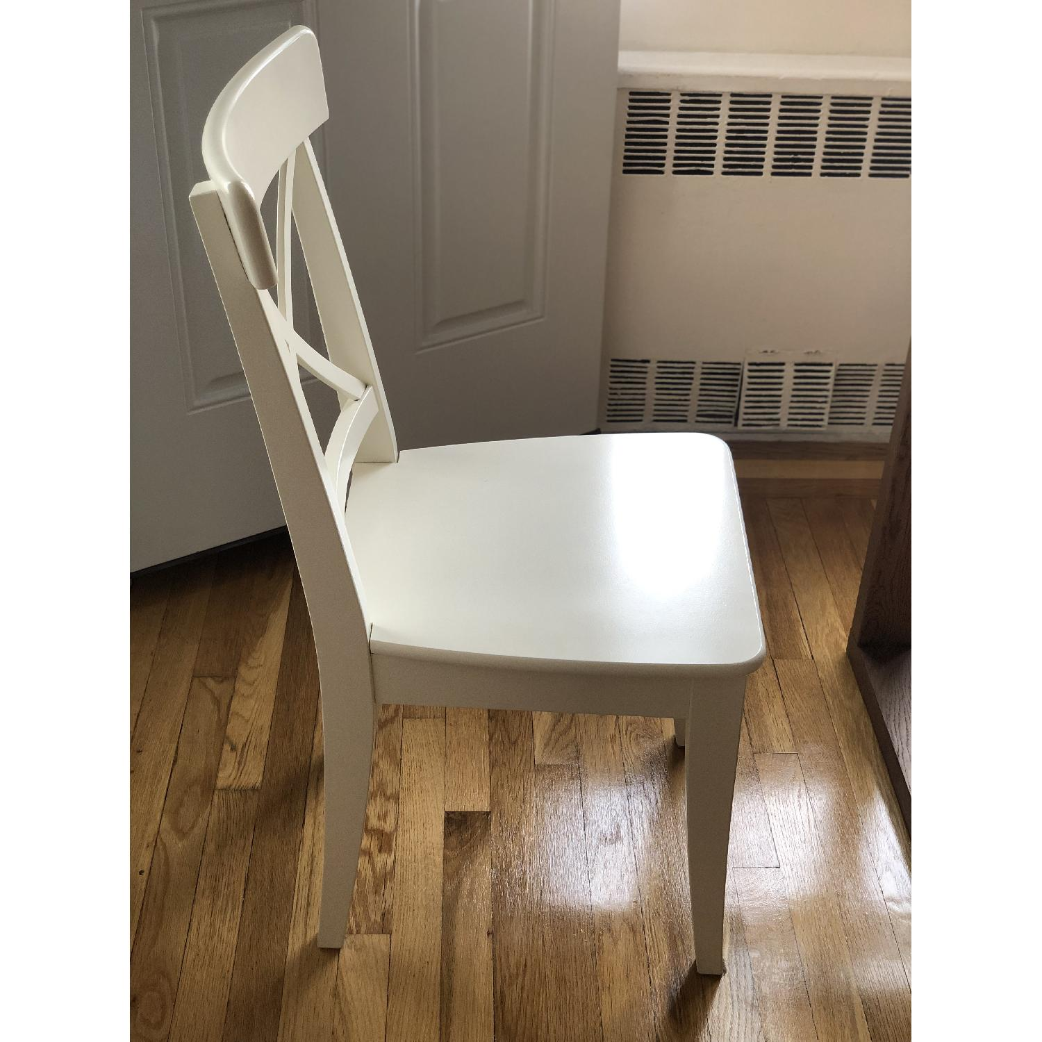 Ikea Ingolf White Dining Chairs - image-1