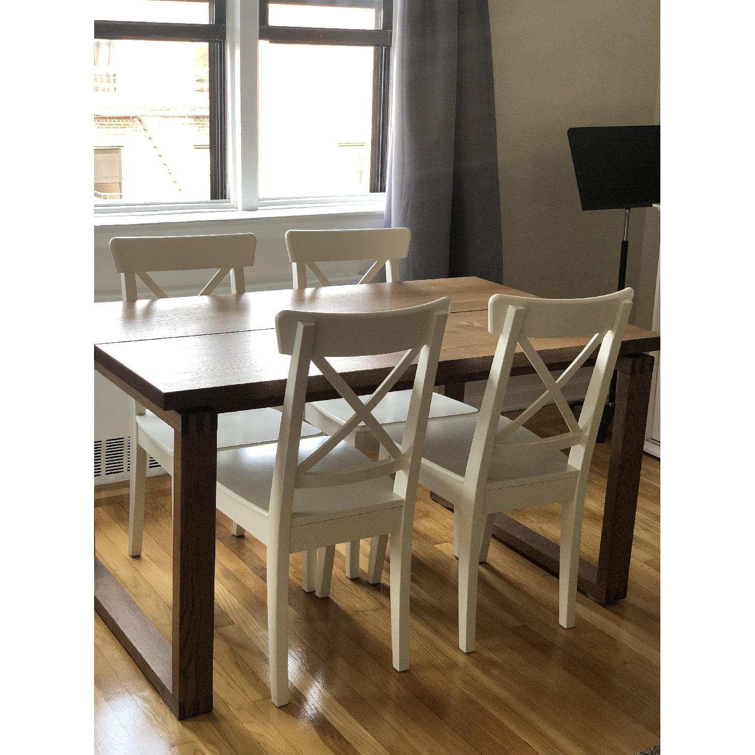 Ikea Ingolf White Dining Chairs - image-2