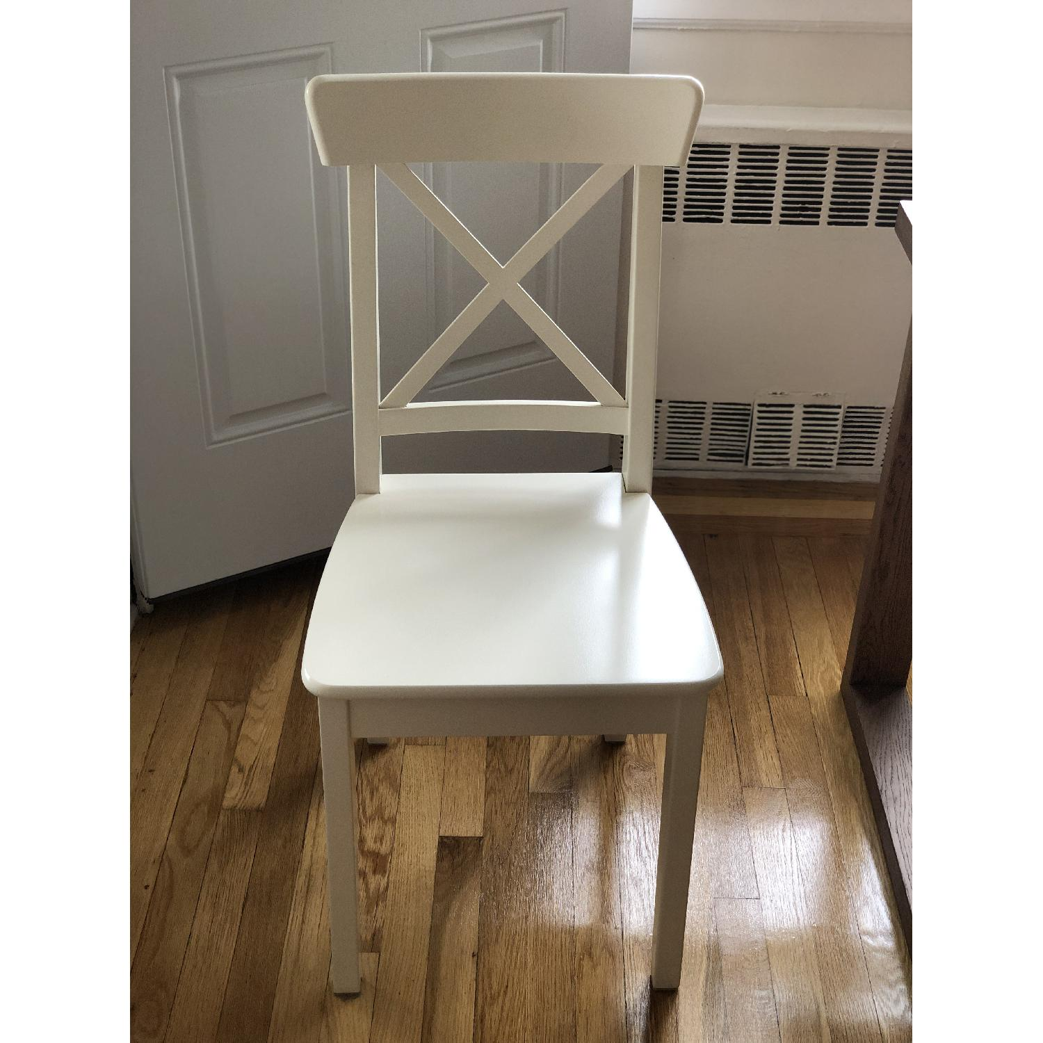 Ikea Ingolf White Dining Chairs - image-3