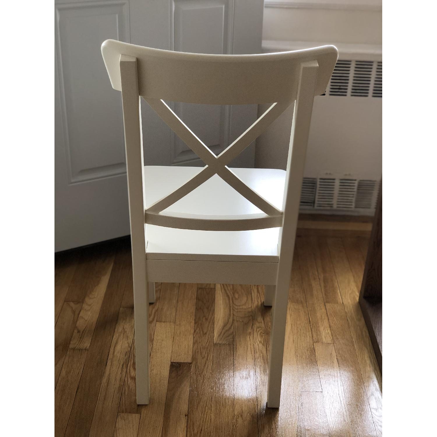 Ikea Ingolf White Dining Chairs - image-4