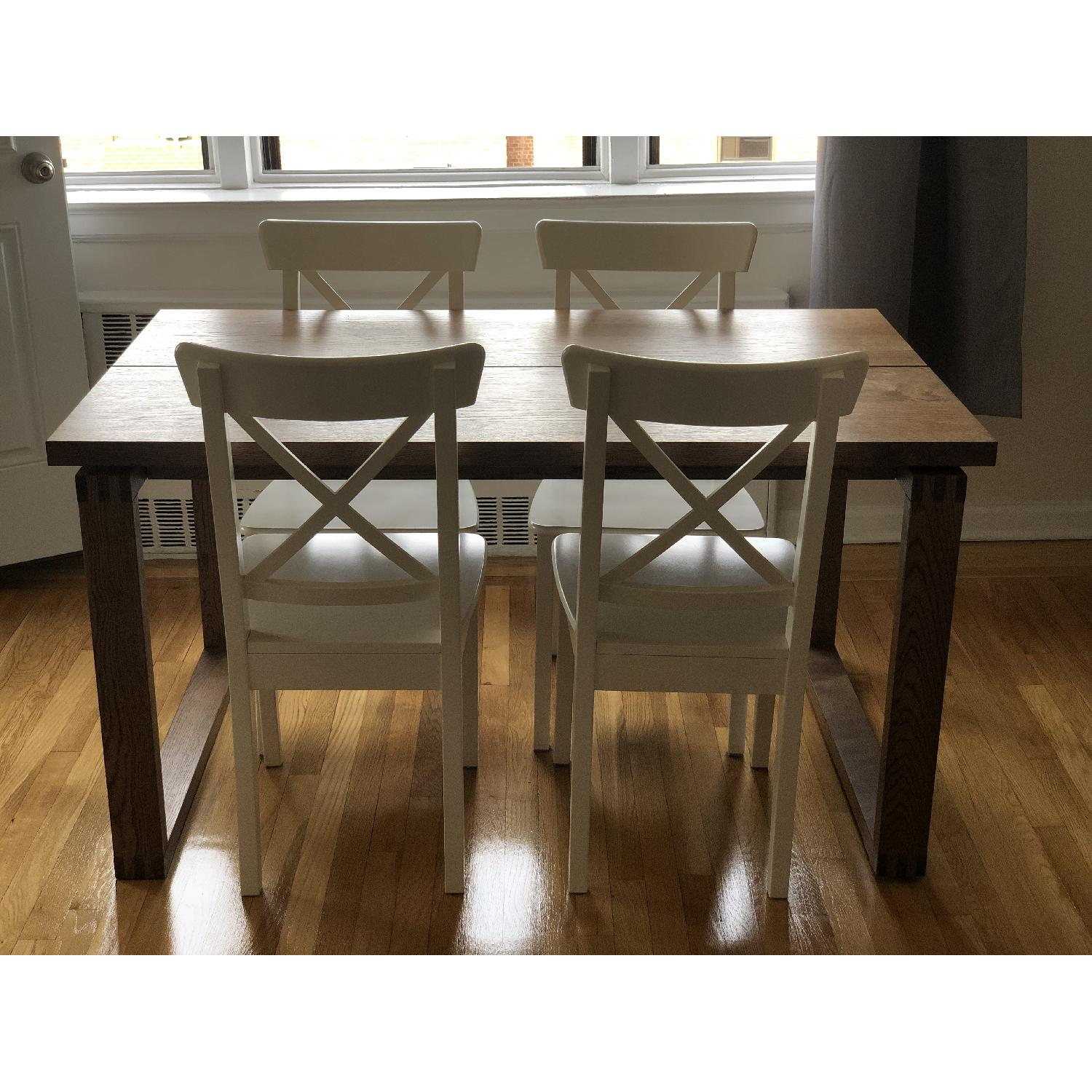Ikea Ingolf White Dining Chairs - image-6