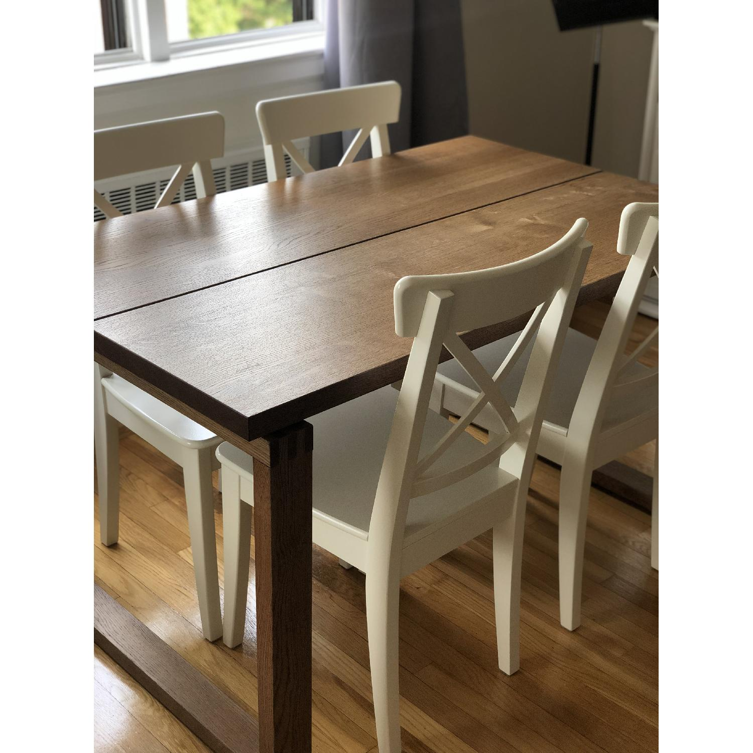Ikea Ingolf White Dining Chairs - image-7