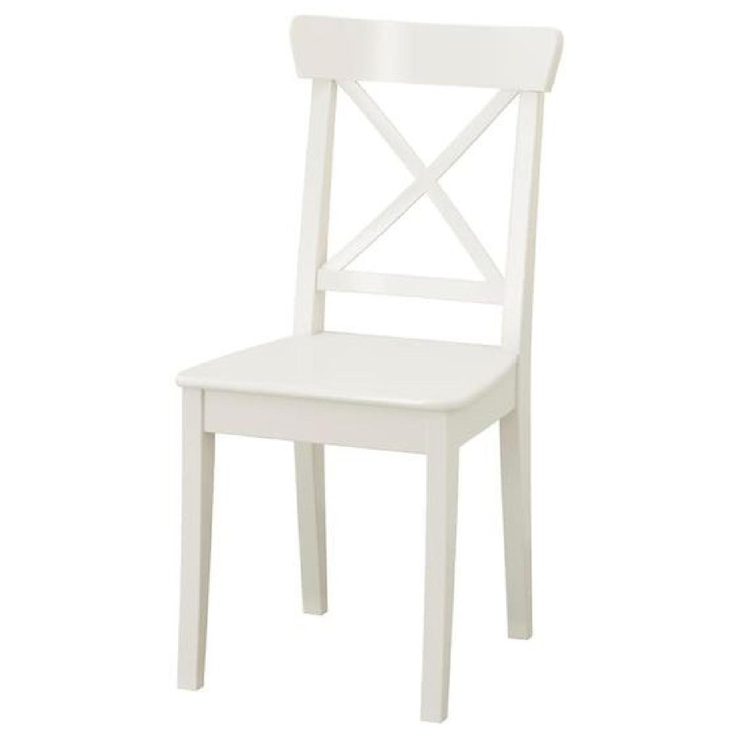 Ikea Ingolf White Dining Chairs - image-0