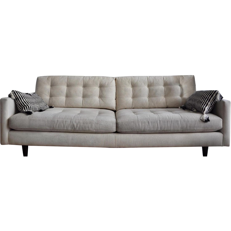 Crate & Barrel Petrie Mid Century Sofa in Beige