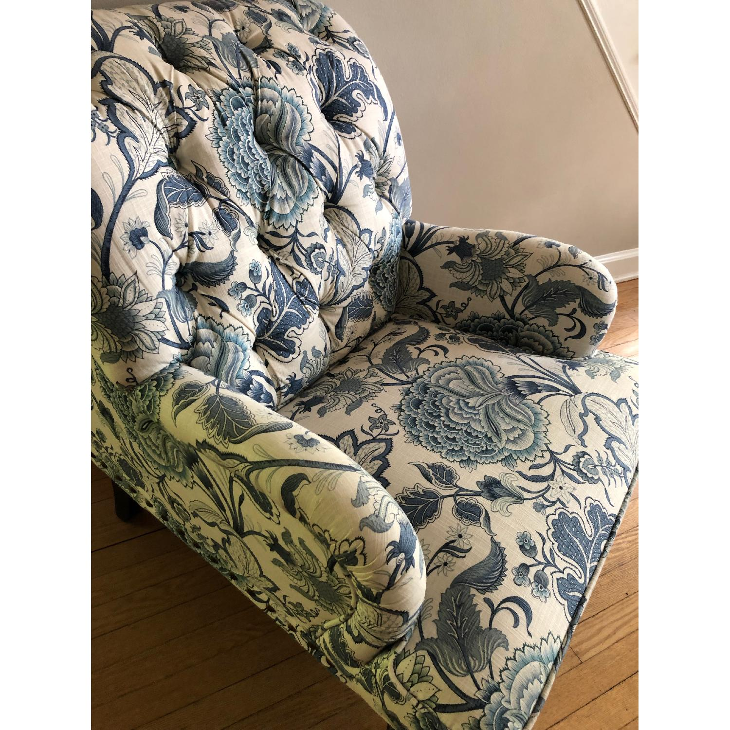 Pier 1 Chas Indigo Blue Floral Chairs - image-3
