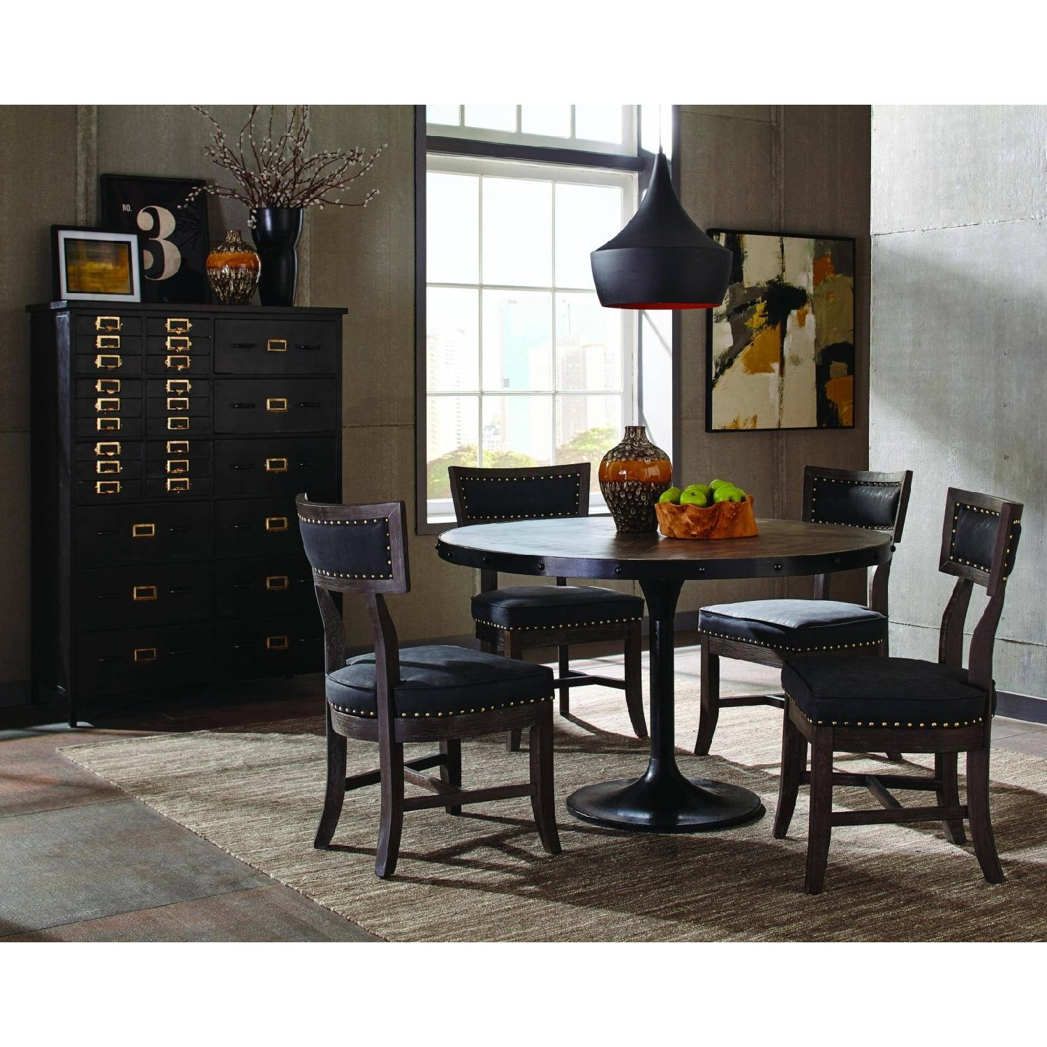 Rustic 27-Drawer Accent Chest in Black Finish - image-1