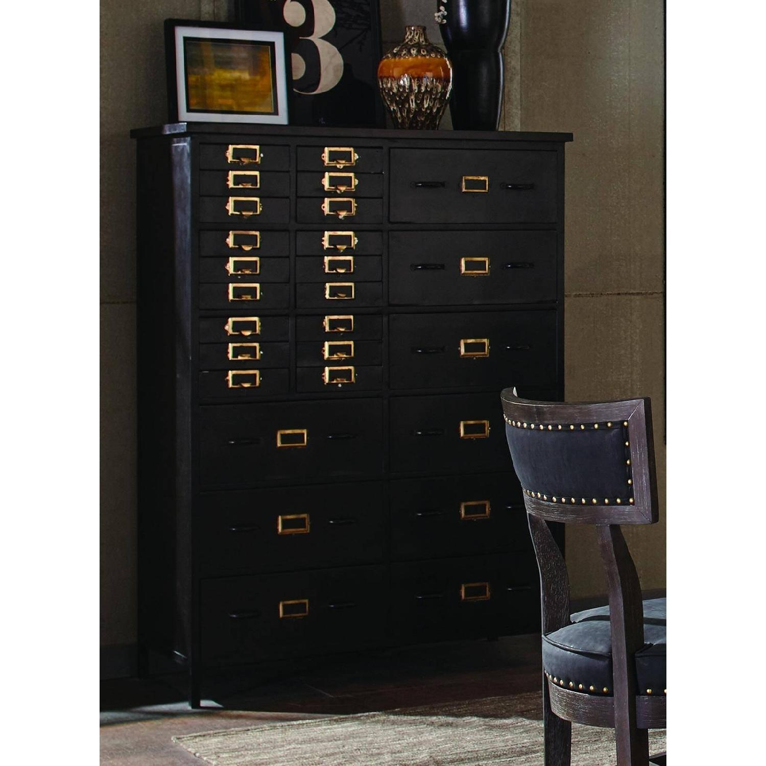 Rustic 27-Drawer Accent Chest in Black Finish - image-3