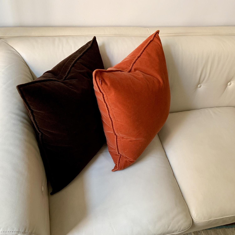 Italian cream Leather Sofa - image-4