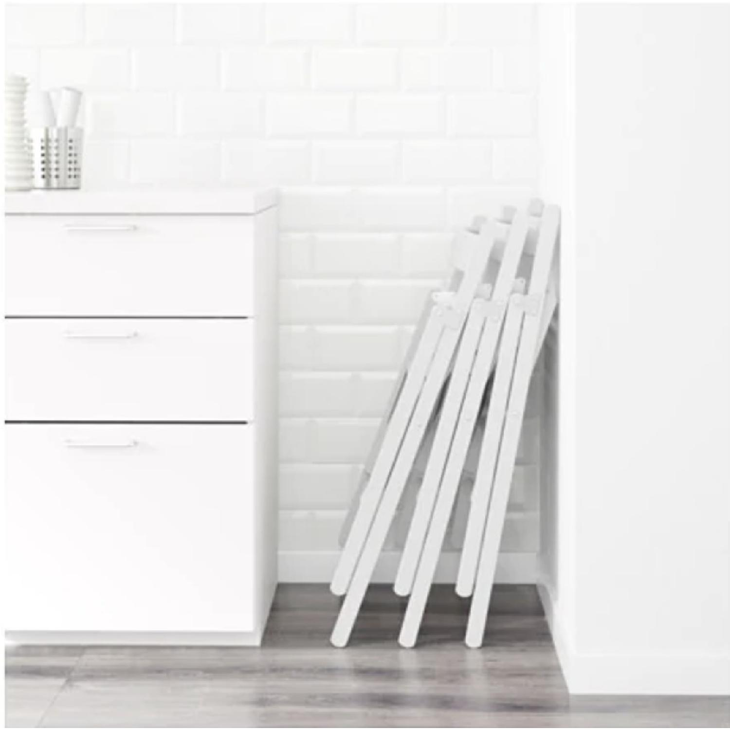 Ikea Terje White Folding Chairs - image-1