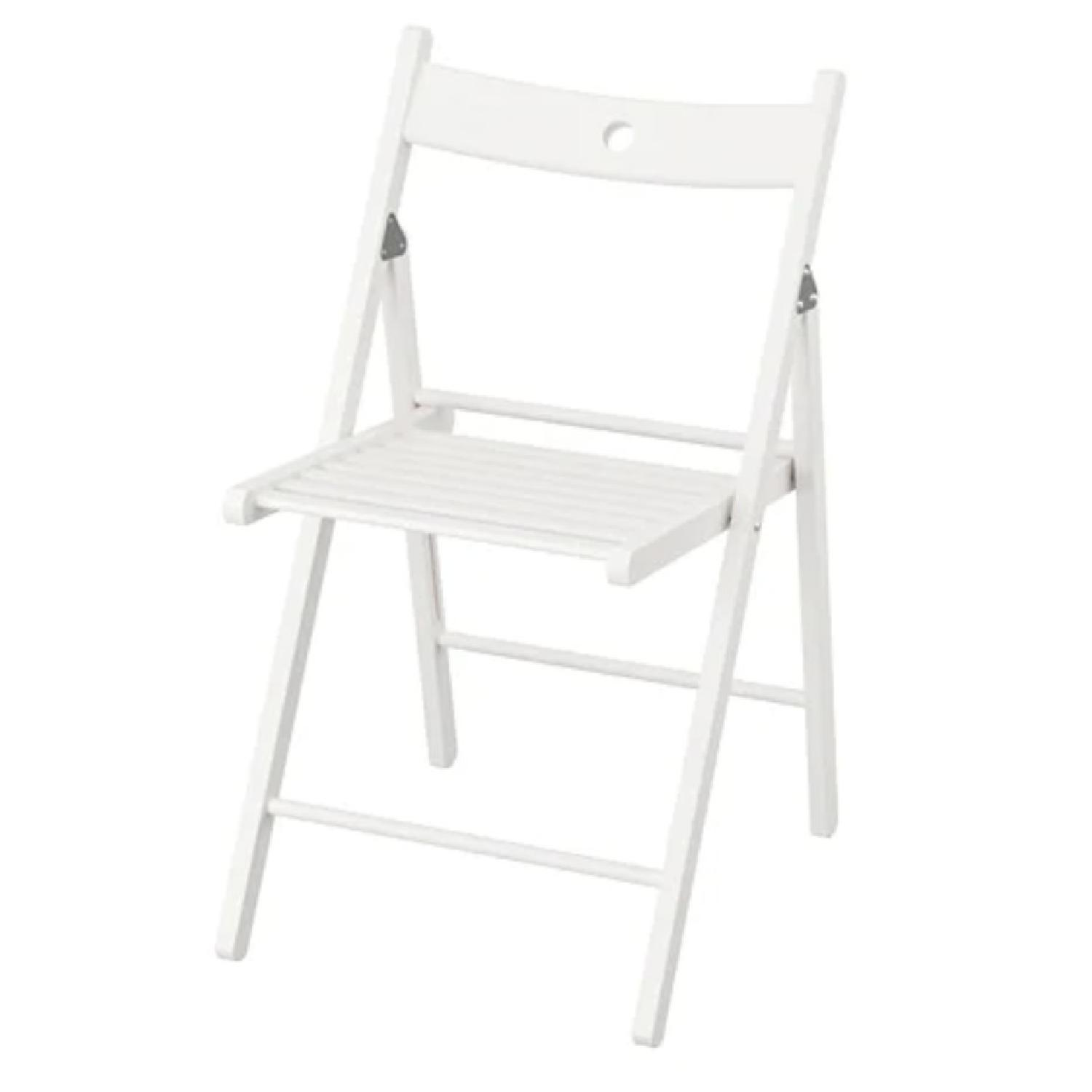 Ikea Terje White Folding Chairs - image-0